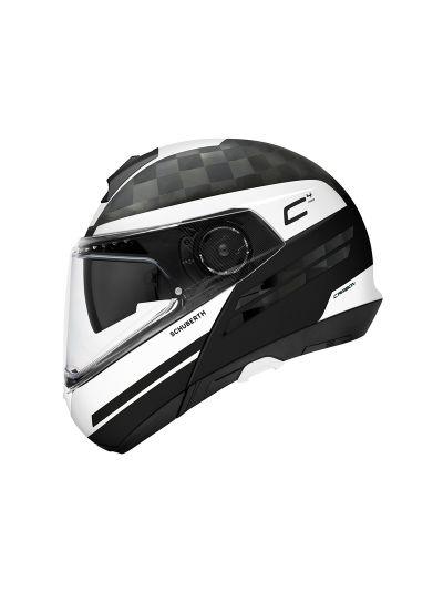 SCHUBERTH C4 PRO CARBON Preklopna motoristična čelada - TEMPEST bela