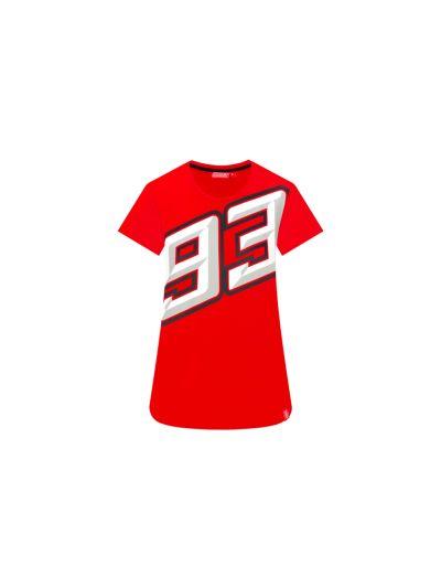 Ženska majica MM93   BIG 93 - rdeča