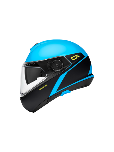 C4 SPARK - Motoristična preklopna čelada / modra