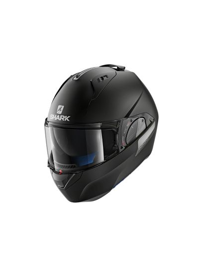SHARK EVO-ONE 2 Motoristična preklopna čelada - črna mat
