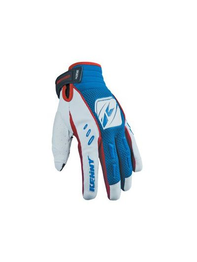 Rokavice (cross) Kenny Racing TRACK modro/bele/rdeče