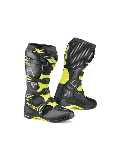 TCX X-HELIUM MICHELIN® off-road motoristični škornji - črni / rumeni
