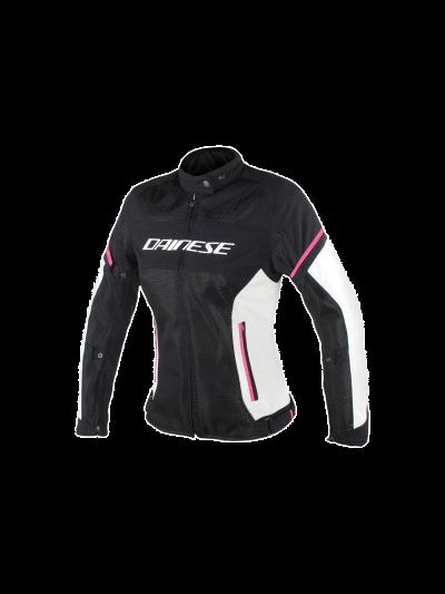 DAINESE AIR FRAME D1 Lady ženska tekstilna motoristična jakna - črna/siva/fuksija