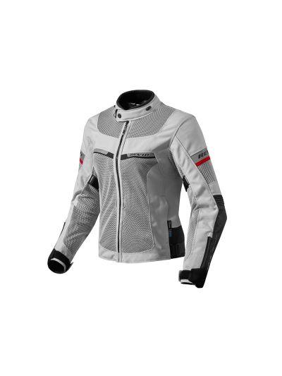 REV'IT TORNADO 2 Lady srebrno/črna ženska motoristična tekstilna jakna
