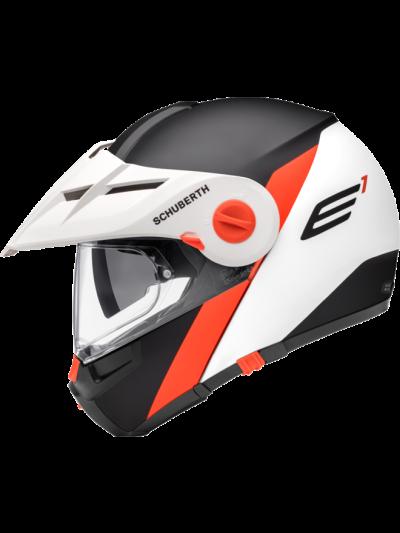 E1 GRAVITY - Motoristična preklopna enduro čelada / oranžna