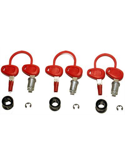 GIVI Set 3 ključavnic s ključi za kovčke GIVI E52, E41, E360, E460, E21