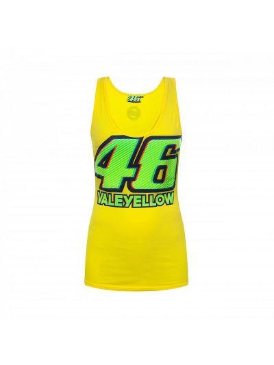 Ženska majica brez rokavov VR46 VALEYELLOW - rumena