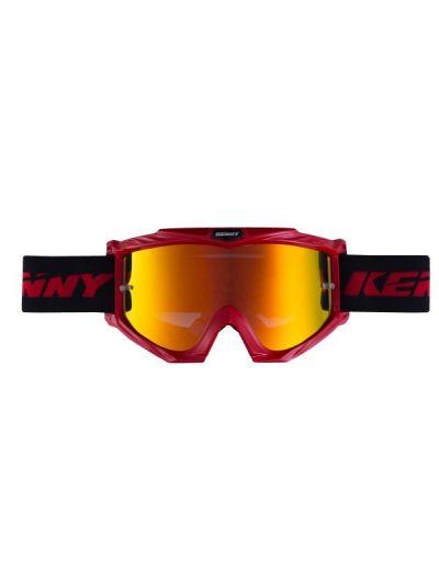 Motoristična motokros očala Kenny Racing TRACK+ - rdeča