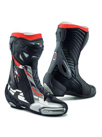 Motoristični škornji TCX RT-RACE PRO AIR - črni, sivi, rdeči