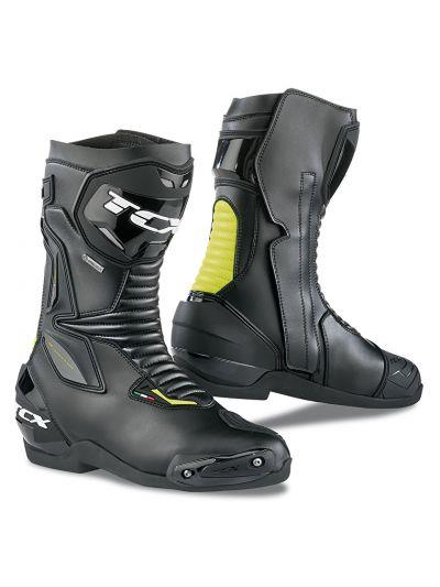 Motoristični škornji TCX SP-MASTER Gore-Tex® - črni/fluo rumeni