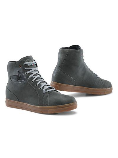 Motoristični casual čevlji TCX Street ACE WP vodoodporni - siv