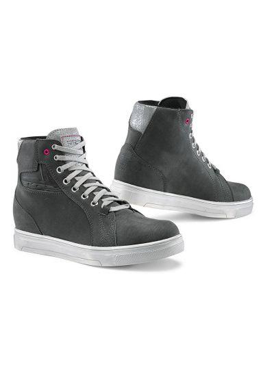 Ženski motoristični čevlji TCX Street Ace Lady WP vodoodporni - sivi