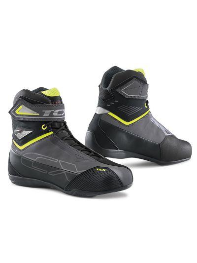Motoristični casual čevlji TCX RUSH 2 WP vodoodporni - sivi/fluo rumeni