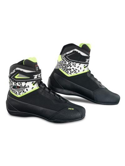 Motoristični casual čevlji TCX RUSH 2 AIR - črni / beli / fluo rumeni