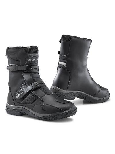 TCX BAJA MID WP usnjeni nizki motoristični škornji - črni