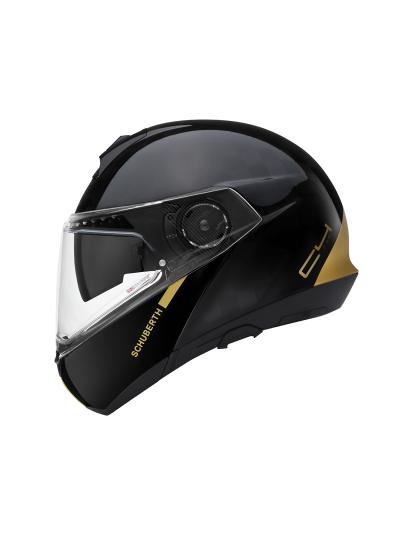 SCHUBERTH C4 PRO Carbon Fusion Gold preklopna motoristična čelada - Limited Edition