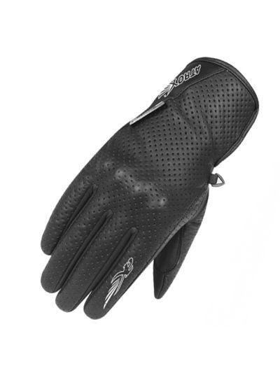 Ženske motoristične rokavice Atrox Rico-CE - črne
