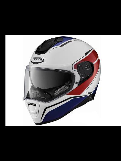 Motoristična čelada integralna Caberg DRIFT TOUR - bela/modra/rdeča