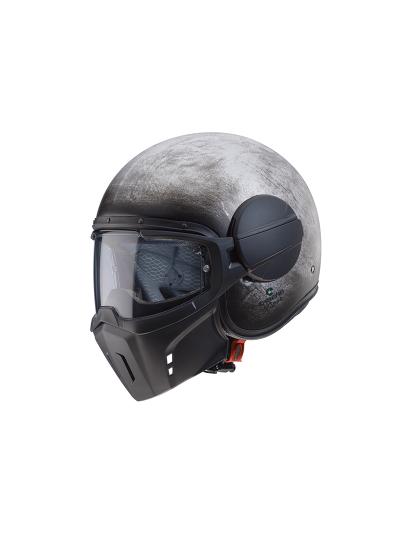 Caberg GHOST IRON odprta motoristična čelada - ročno polirana