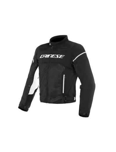 DAINESE AIR FRAME D1 tekstilna motoristična jakna - črna/bela