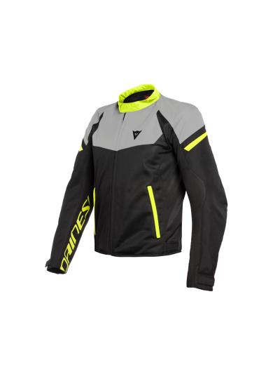 Motoristična tekstilna jakna Dainese BORA AIR - črna / magnesio mat / fluo rumene