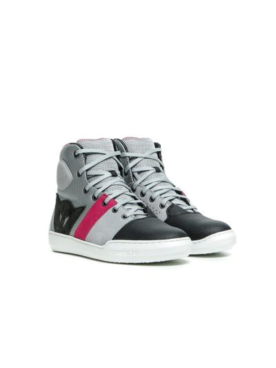 Casual motoristični čevlji Dainese YORK AIR Lady - svetlo sivi / koralni