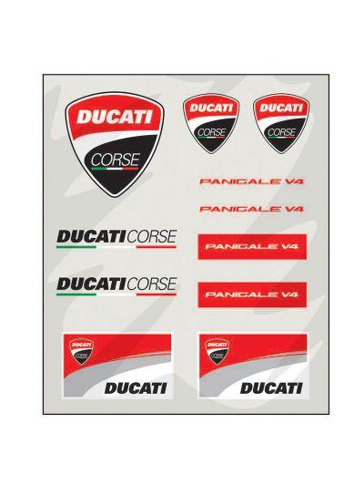 Set nalepk srednje velik Ducati Corse