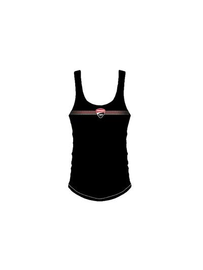 Ženska majica brez rokavov DUCATI Corse - črna