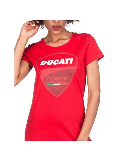 Ženska majica Ducati Official - rdeča