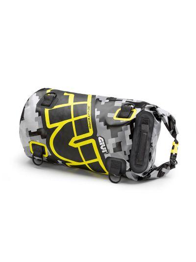 GIVI EA114 vodoodporna torba za zadek motorja - črna/siva/rumena | 30 L