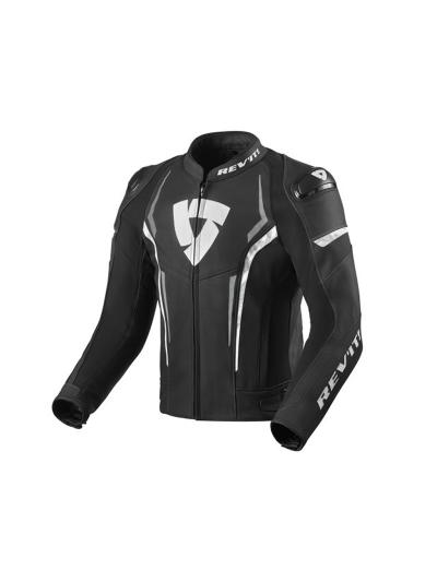 REV'IT GLIDE usnjena motoristična jakna - črna/bela