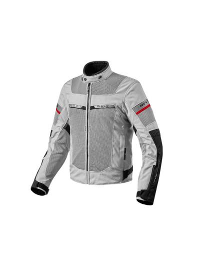 REV'IT TORNADO 2 srebrno-črna motoristična tekstilna jakna