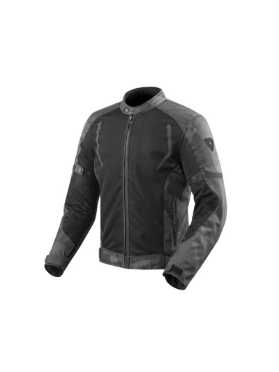 Motoristična tekstilna jakna REV'IT TORQUE - črna/siva