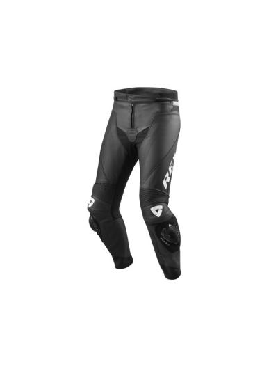 REV'IT VERTEX GT usnjene motoristične hlače - črne / bele