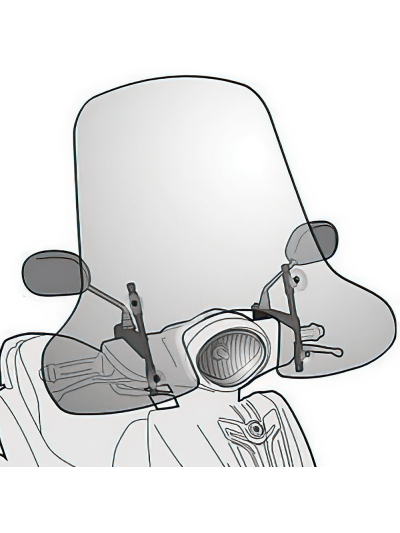 GIVI 2114A povišan vizir za Yamaha D'elight 114 (2013 - 2016)