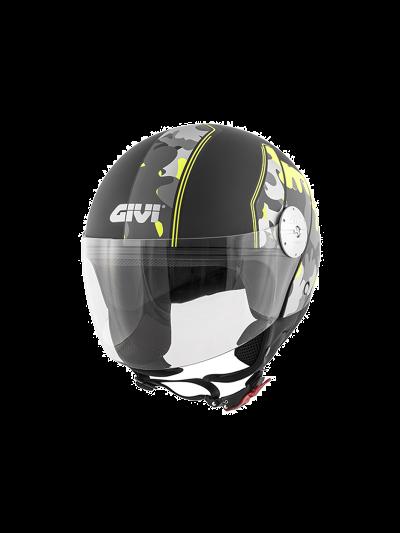 Demi-jet motoristična čelada GIVI 10.7 - camo/črna mat