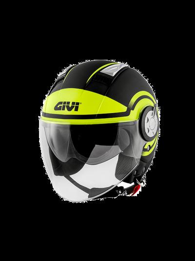 Motoristična čelada GIVI 11.1 AIR JET-R - mat črna / fluo rumena
