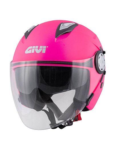 Jet motoristična čelada GIVI 12.3 Stratos Roza
