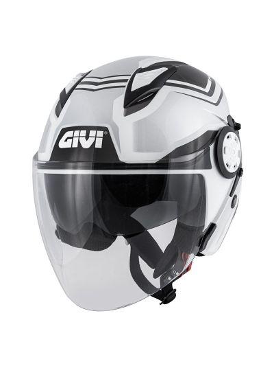 Jet motoristična čelada GIVI 12.3 Stratos Shade siva / črna
