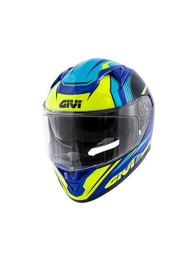 GIVI 50.6 STOCCARDA GLADE integralna motoristična čelada - modra/fluo rumena