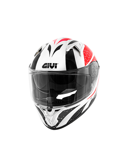 GIVI 50.6 STOCCARDA PERSEUS integralna motoristična čelada - bela/črna/rdeča