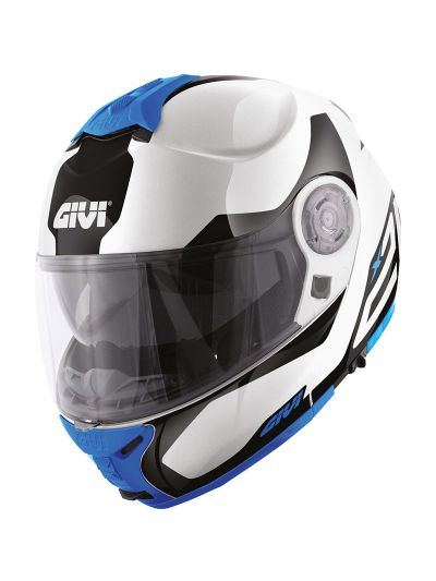 GIVI X.21 CHALLENGER SPIRIT preklopna motoristična čelada - bela / črna / modra