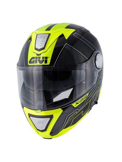 GIVI X.23 SYDNEY PROTECT motoristična preklopna čelada - črna/rumena