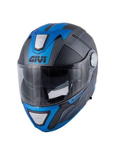GIVI X.23 SYDNEY PROTECT motoristična preklopna čelada - črna / modra
