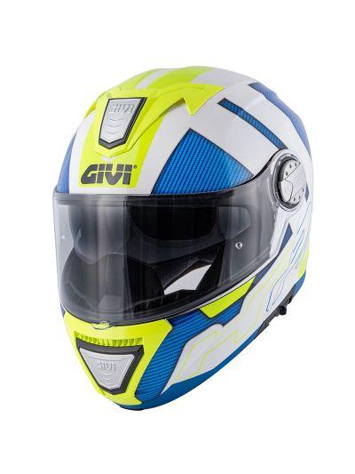 GIVI X.23 SYDNEY PROTECT motoristična preklopna čelada - bela / modra / fluo rumena