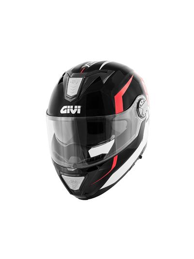 GIVI X.23 SYDNEY VIPER motoristična preklopna čelada - črna/rdeča