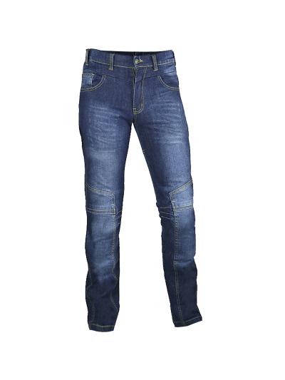 Motoristične jeans hlače RIDER 1 HERO - modre