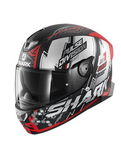 SHARK SKWAL 2 NOXXYS motoristična integralna čelada - črna/rdeča/srebrna mat