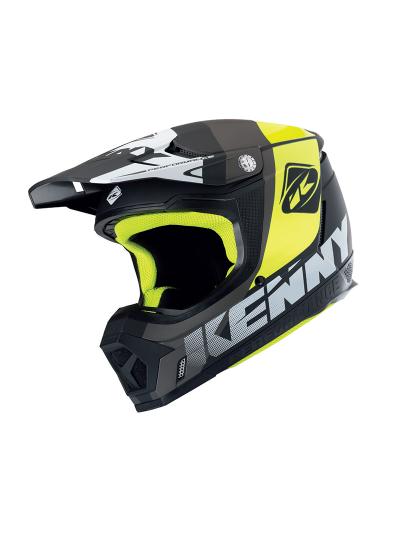 Motokros čelada Kenny Racing PERFORMANCE PRF - siva