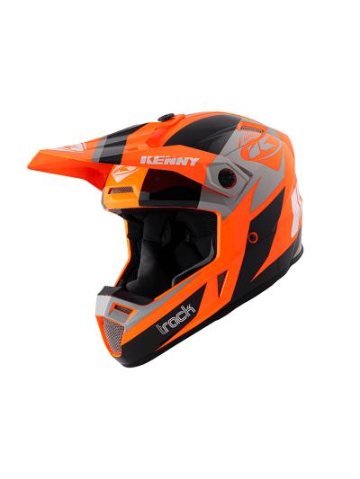 Motoristična kros čelada Kenny Racing TRACK VICTORY - oranžna
